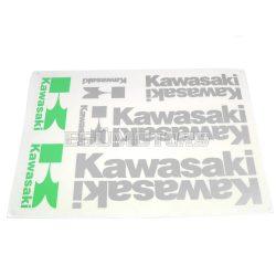 Kawasaki matrica szett ezüst, B4
