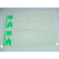 Kawasaki matrica szett fehér, B4