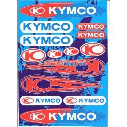 Kymco fehér matricaszett, A4-es